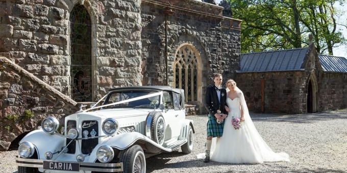 Image of wedding couple in Argyll